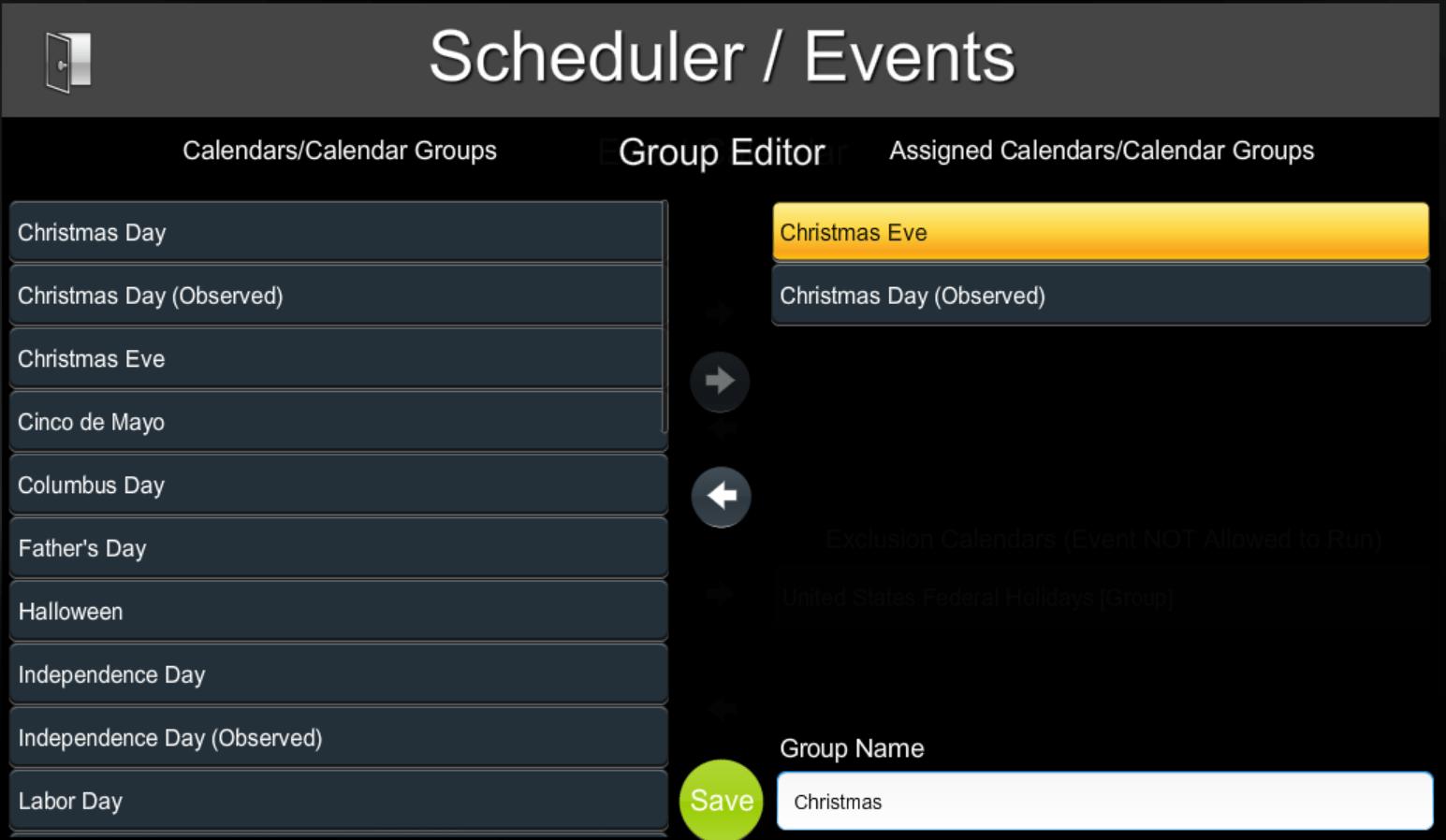 Scheduling Events | ShowRunner | Crestron Programming