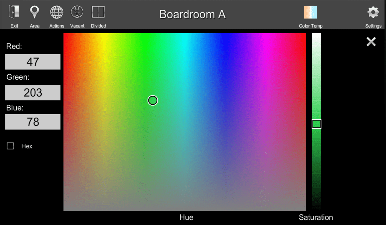 RGB Color Selection | ShowRunner | Crestron Programming